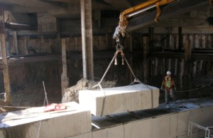 diaphragm wall demolition